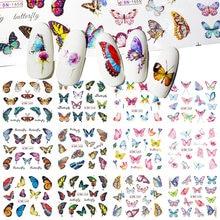 12 видов конструкций бабочка серии цветные наклейки на ногти