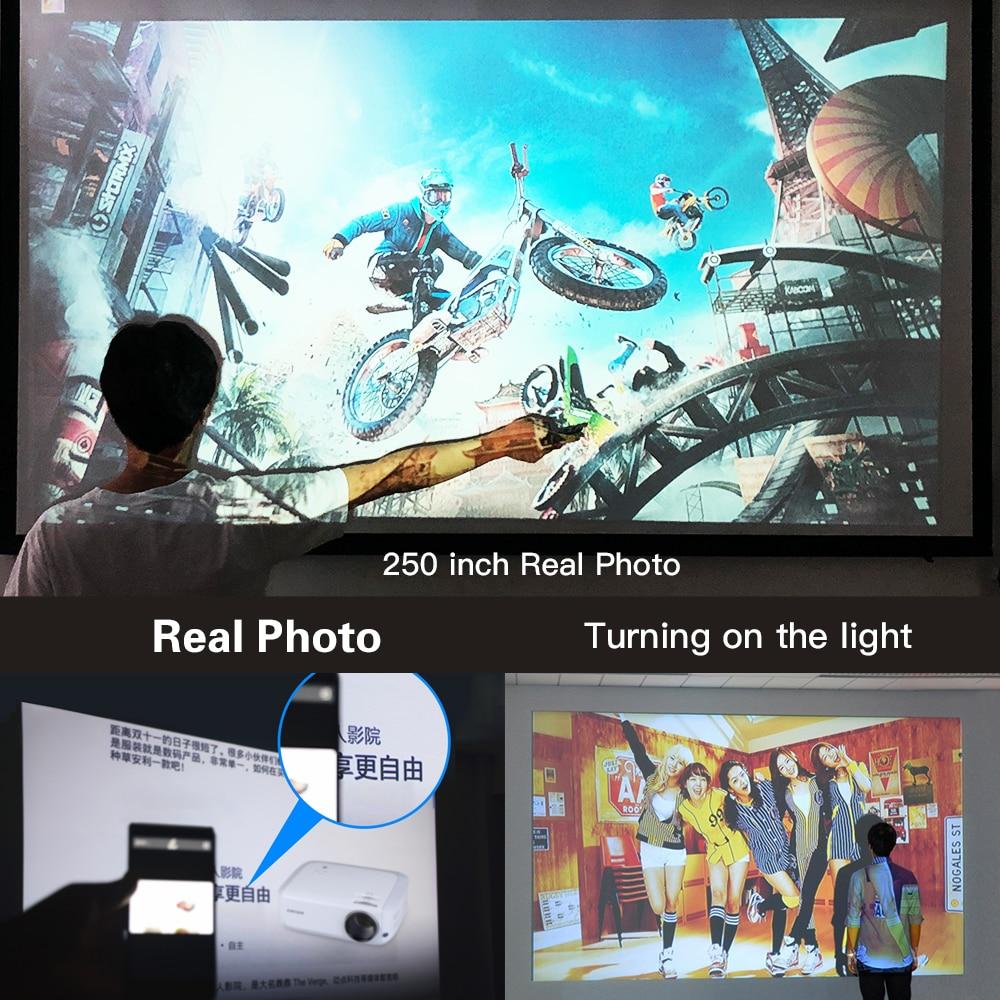 Image 2 - Crenova 2019 mais novo completo hd 1080 p android projetor 6000  lumens android 7.1.2 os suporte do projetor de vídeo 4 k dolby 2g 16g  beamerProjetores LCD
