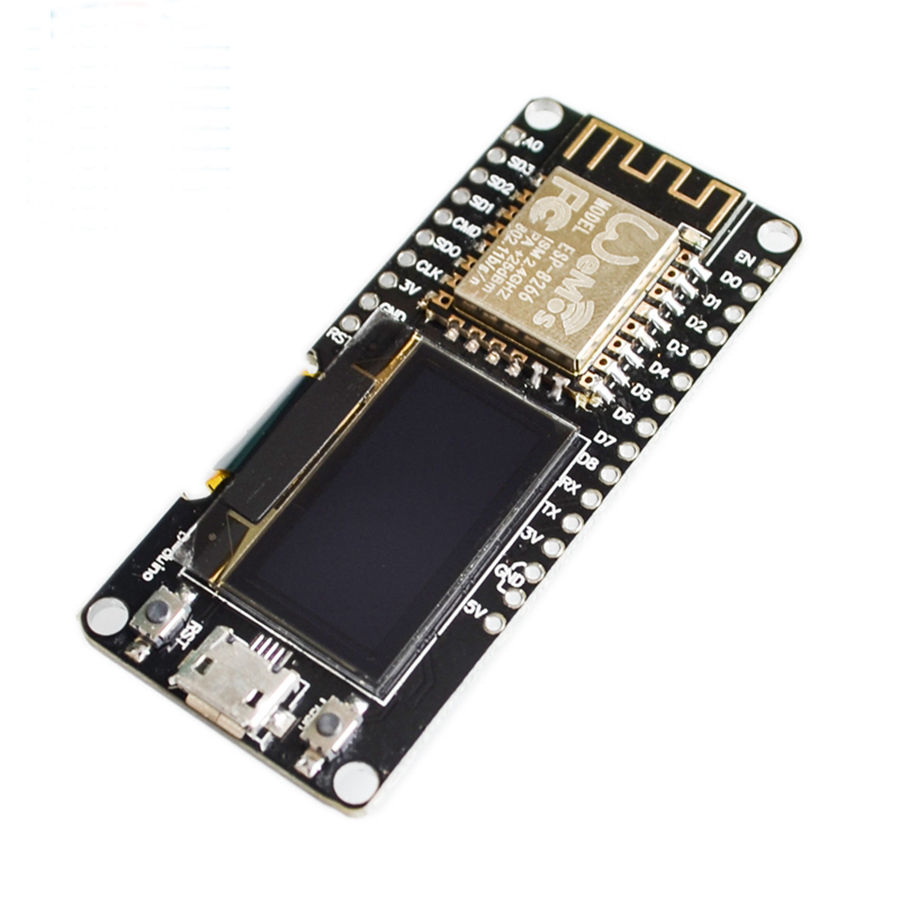 0.96 Inch OLED Display Wemos ESP8266 ESP-12F ESP12F CP2102 Wireless Wifi Development Display Board Micro USB 0.96
