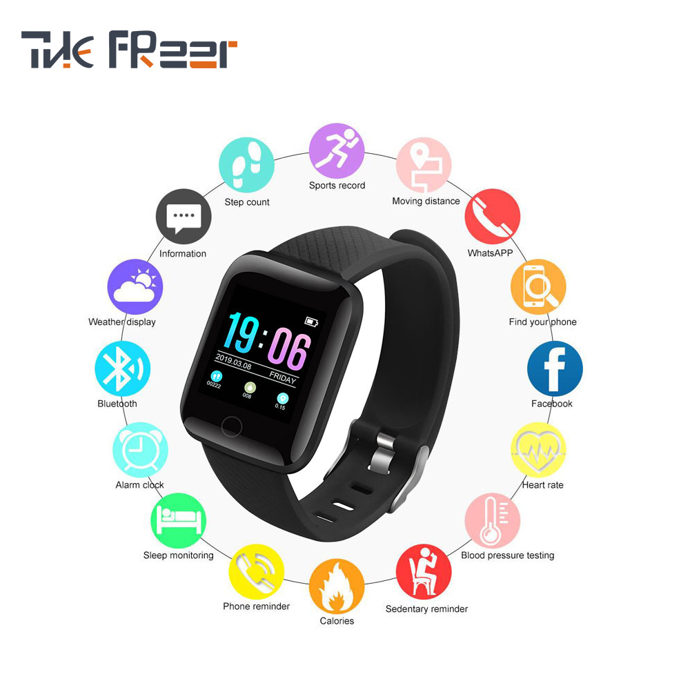 Horloges Voor Mannen Waterdichte Screen Running Fitness En Sport Tracker Hartslag Monitoring Vrouwen Bluetooth Digitale Horloge