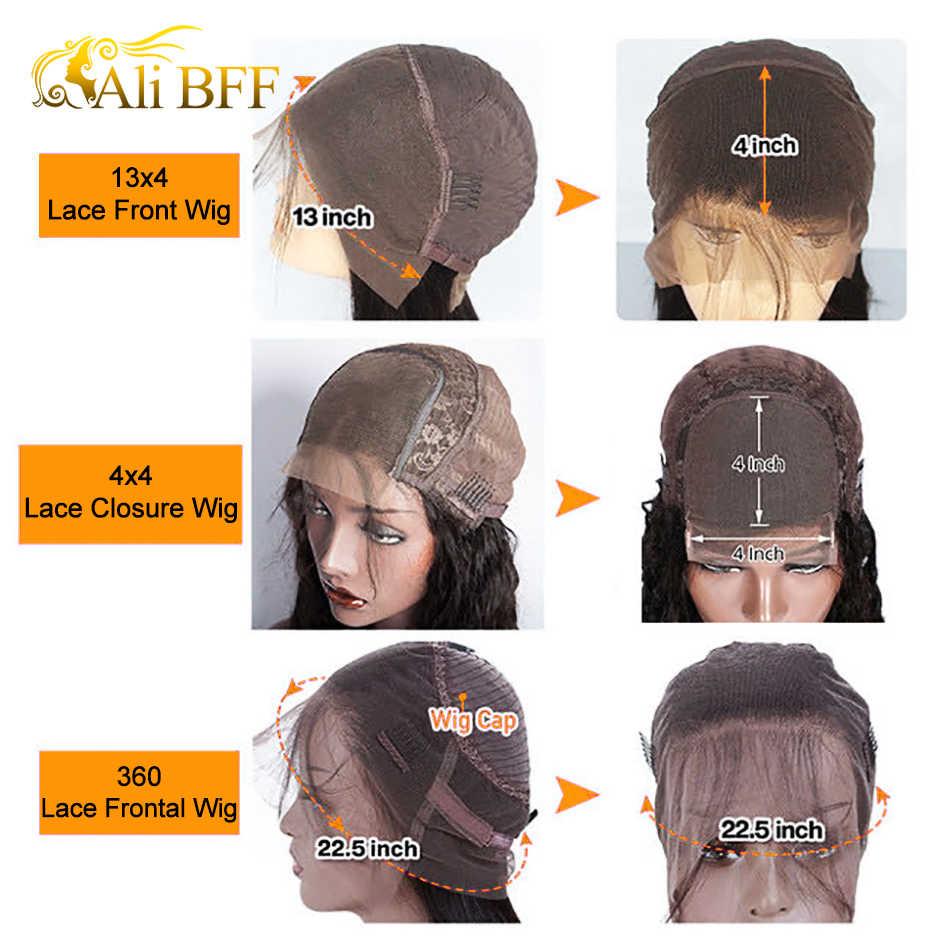 ALI BFF Peluca de encaje HD, pelucas de cabello humano con encaje frontal liso, 180 de densidad, peluca de encaje brasileño pre-arrancada, 360