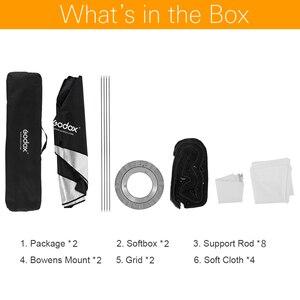 """Image 2 - 2 Chiếc Godox 12 """"X 47"""" 30X120 Cm Dây Tổ Ong Lưới Chữ Nhật Softbox Cho Ảnh Nhấp Nháy đèn Flash Studio Softbox Gắn Kết Bowens"""