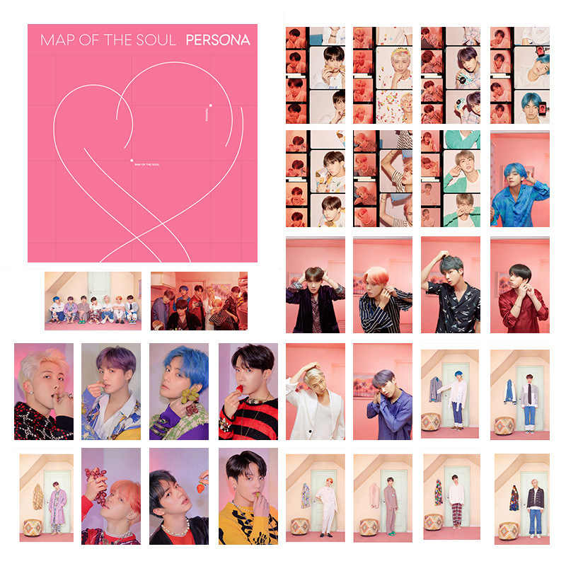 30pcs/Set Kpop Bangtan Boys Map Of The Soul Persona Love Yourself Wings Yong Forever LOMO Card Photocard JIMIN JIN SUGA J-HOPE