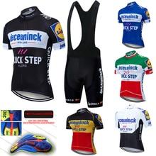 2020 Pro Team Quick Step Radfahren Jersey 20D Bib Set Fahrrad Kleidung Ropa Ciclism Fahrrad Tragen Kleidung Mens Short Maillot culotte