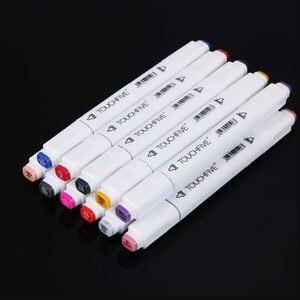 TOUCHFIVE дополнительный Цвет одинаковая маркер для рисования кисть эскиз на спиртовой основе маркеры двойная головка манга, ручки для рисования, товары для рукоделия|Цветные маркеры|   | АлиЭкспресс