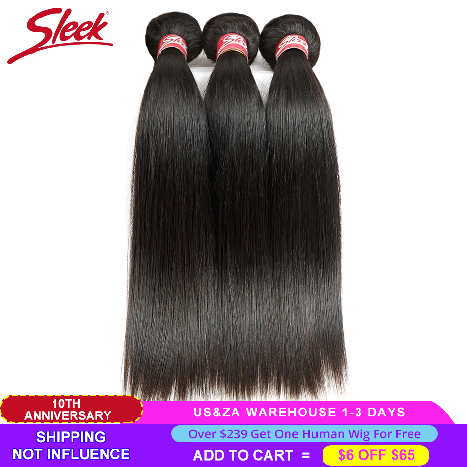 Sleek Straight Brazilian Hair Weave Bundles Deal Human Hair Extension Vendors 8 To 28 30 Inch Non-Remy 1/3/4 Human Hair Bundles