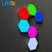 Quantum Lamp RGB LED Hexagonal Modular Touch Sensitive Quantum Lighting Night Light Hexagons Creative With Controller