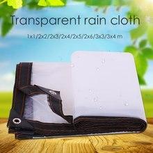 Tarp-Cover Tent Shade Cloth-Tarpaulin Waterproof SHELTER 1x1m-3x4m Lightweight Transparent