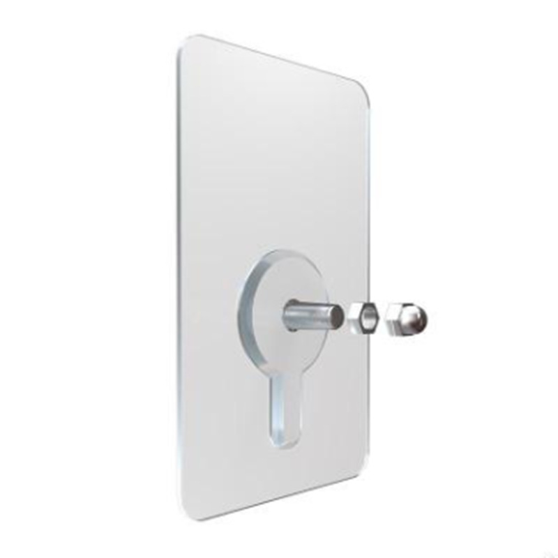 PTOC Clothes Hooks For Bathroom Home Accessories Wall-mounted Key Holder Strong Adhesive Wall Hanger
