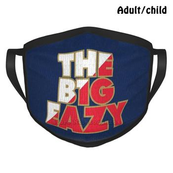 The B1g Eazy-Navy 2 Best Gift Funny Print Reusable Face Mask Big Easy The Big Easy Big Eazy The Big Eazy Basketball Zion image