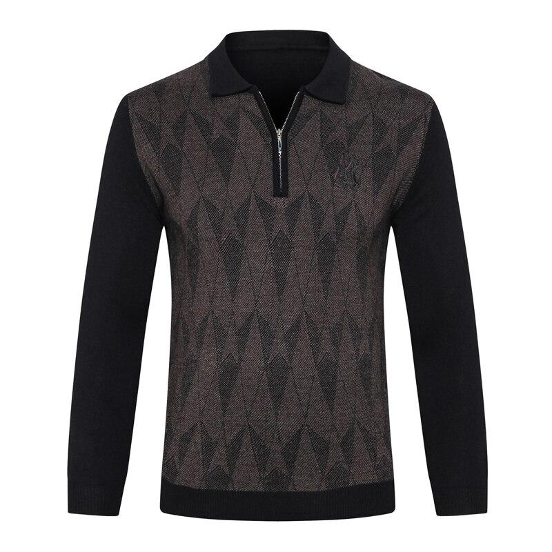มหาเศรษฐีเสื้อกันหนาวผู้ชาย 2019 ใหม่แฟชั่นซิป comfort geometry ออกแบบคุณภาพสูงสุภาพบุรุษใหญ่ M 5XL จัดส่งฟรี-ใน เสื้อคลุมสวมศีรษะ จาก เสื้อผ้าผู้ชาย บน   2