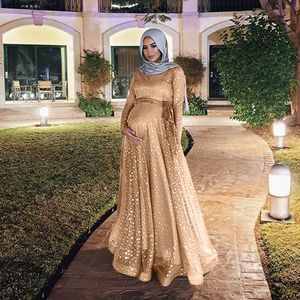 Muslim Dress abaya Pregnant Women Floor-length Dress Muslim Plus Size Loose Elegance Maternity Long pregnancy dress vestidos