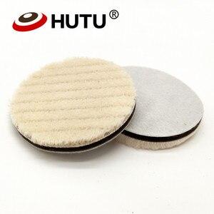 Image 2 - 4 inch Lämmer Woll Polieren Pad Für Auto Polierer Detail Spiegel Finish Polieren 100mm Polieren Disk