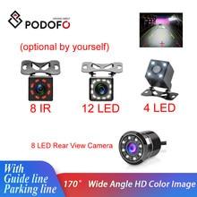 Podofo Auto Rückansicht Kamera Universal Backup Parkplatz Kamera 4/8/12 LED 8IR Nachtsicht Wasserdichte 170 Weitwinkel HD Farbe bild