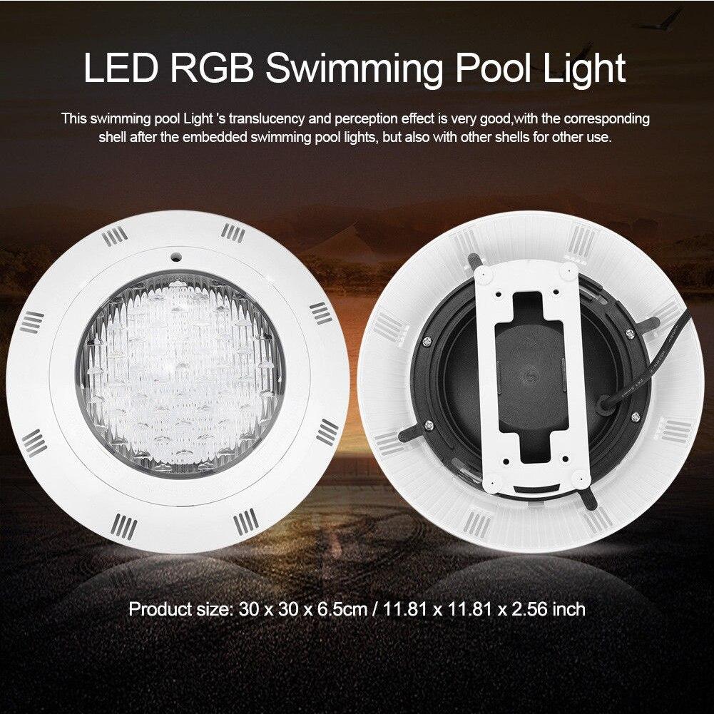 12V 24W lumière sous-marine RGB coloré Led Aquarium télécommande étanche piscine étang nuit décoration extérieure jardin