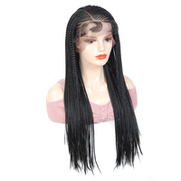 X TRESS Lace Front Braids Wigs Synthetic Twist Cornrow Braided Wig Heat Resistant Fiber Long Hair for African Black Women