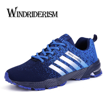 Fashion Sneakers Men Lace-up Running Shoes Breathable Mesh Women Sneaker Non-slip Wearable Casual Sports Shoes Lovers Size 47 cozulma women candy color breathable canvas shoes lace up fashion sneakers female non slip casual shoes size 35 40