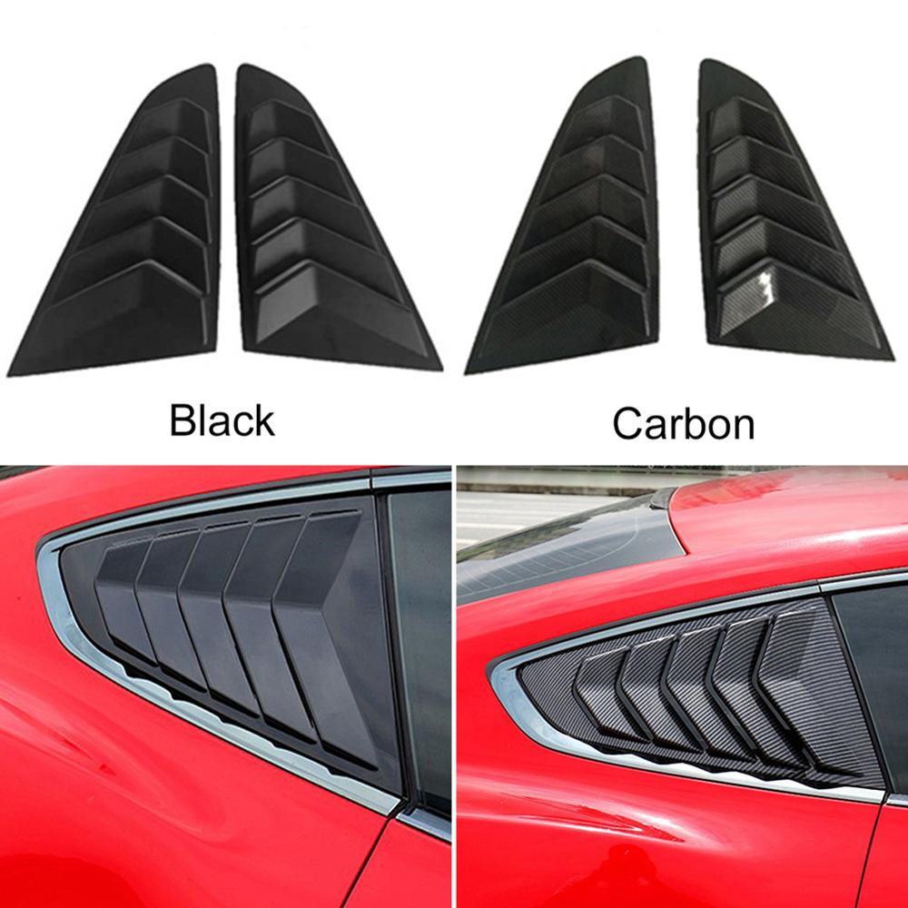 <font><b>2019</b></font> New Style Carbon Fiber Side Window Scoop Louvers Cover Vent for Ford <font><b>Mustang</b></font> <font><b>2015</b></font> 2016 2017 2018 <font><b>2019</b></font> voiture Wholesale CSV image