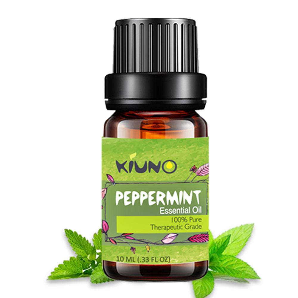 KINUO 10ML Peppermint Pure Essential Oils For Aromatherapy Essential Oils Organic Body Relieve Stress Oil Skin Care Help Sleep