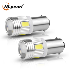 NLpeal 2x Signal Lamp  BA9S T4W Led Bulb 12V 5630 SMD Ba9s LED T4w 233 Car Interior Reading Door Lamp License Plate Lights White 100pcs ba9s t11 5050 5 smd led white light bulb car reading width lights car 12v lamp t4w h6w high quality interior lamp bulb