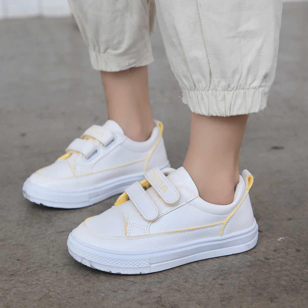 Çocuk Bahar Beyaz Sneakers Bebek Erkek Rahat spor ayakkabı Yeni Yürümeye Başlayan Çocuklar Kauçuk Yumuşak Alt Flats Kızlar Koşu Eğitmenler 2019