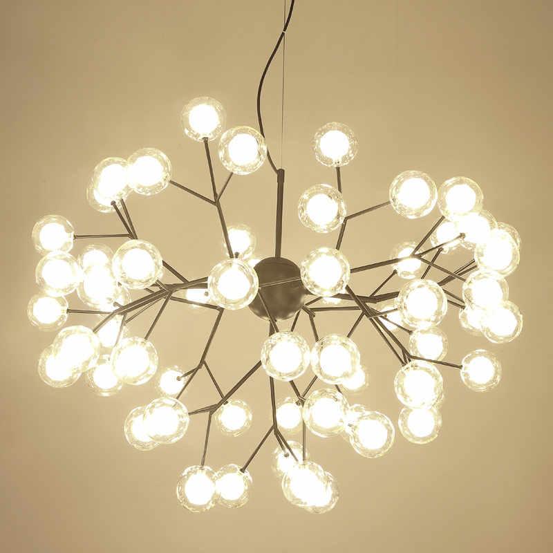 Современное светодиодное стекло подвесной светильник в скандинавском стиле для столовой, кухонный светильник, романтические светлячки, подвесные лампы, Avize Lustre Lighting