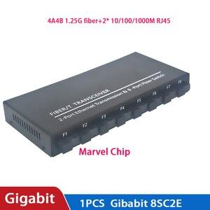 Image 5 - Commutateur à fibres optiques 8 SC 2 1000M RJ45 convertisseur de médias de commutateur Ethernet Gigabit de qualité industrielle 5V3A