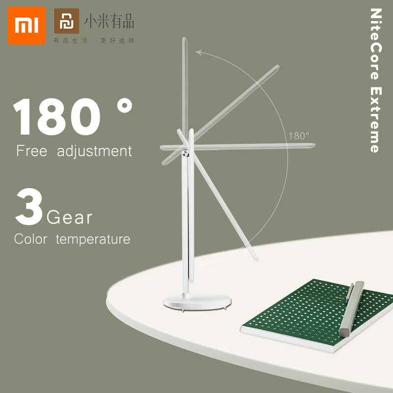 Xiaomi Youpin Folding Wireless Table Lamp USB Rechargeable 1200mAh Reading Desk Lamp Touch Dimming Portable LED Reading Lamp