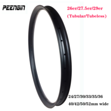 Full size mtb carbon rim 26er/27.5 inch/29 plus bicycle tubular/clincher tubeless mountain bike wheel 24~52Wide 23~34 deep XC/DH