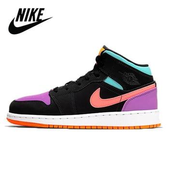 Sneakers Original Nike Air Jordan 1 Retro High og Chicago Basketball Shoes Women's Basketball Nike Air Jordan 1 Retro High OG