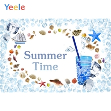 Yeele Photocall Tropical Cup Summer Time Holiday Starfish Photography Photographic Background Backdrop Photo Studio Photozone