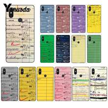 Yinuoda Library Book LIBRARY CARD Newly Arrived Black Phone Case For XiaoMi 6 MIX2 8SE K20 REDMI 5A NOTE4X 7 6A Mobile Cases(China)