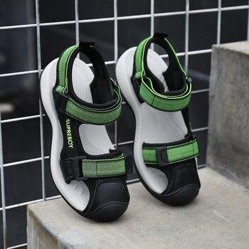 цена Sandals For Children Summer Kids Shoes Brand Closed Toe Toddler Boys Sandals Orthopedic Sport Pu Leather Boys Sandals Shoes онлайн в 2017 году