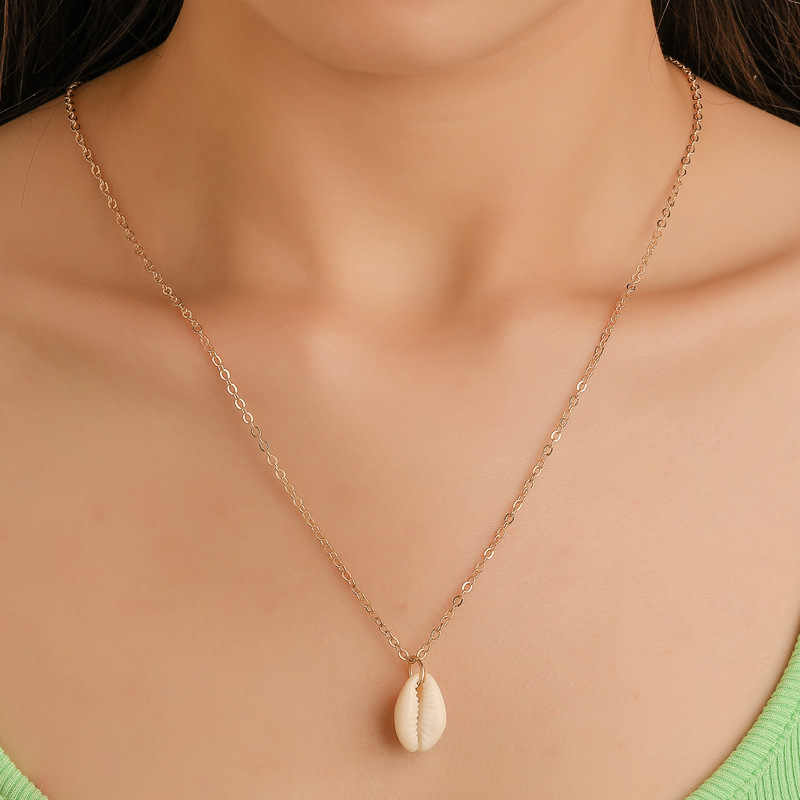 Woozu 2019 Bohemian Shell Necklace Sea Beach Shell Pendant Necklace For Women Collier Femme Shell Cowrie Summer Jewelry