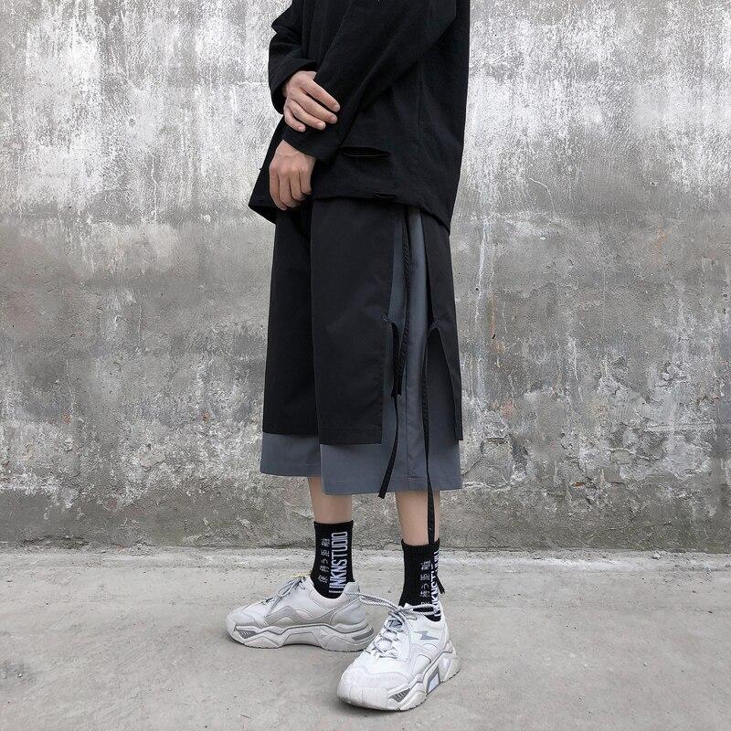 IiDossan Solid Color Men Casual Shorts Hiphop Robbins Shorts Streetwear High Street Men Short Pants Cotton Top Quality Shorts