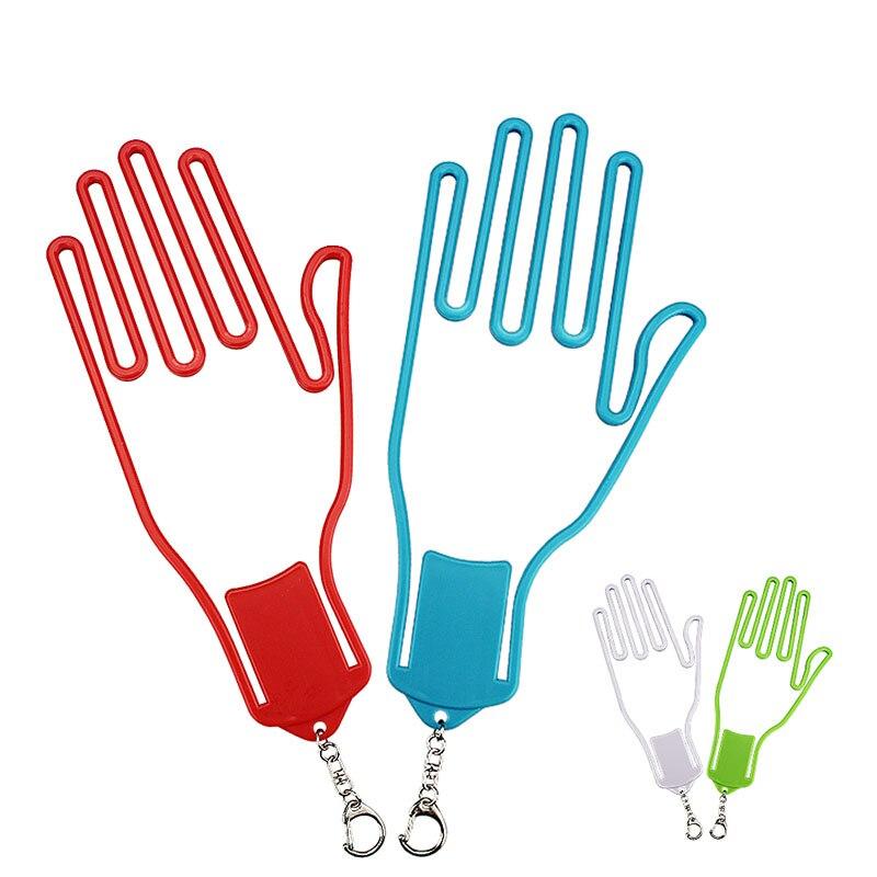 1 Pcs Golf Glove Holder Golfer Tool Plastic Golf Gloves Rack Dryer Golf Glove Stretcher Hanger With Key Chain Golf Accessories