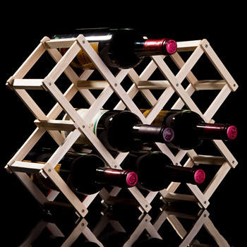 Półka z litego drewna półka z czerwonego wina półka z litego drewna kreatywna składana półka na wino z drewna dekoracja z wieloma butelkami składana półka z czerwonego wina tanie i dobre opinie CN (pochodzenie) Podłogowy DOUBLE Ekologiczne Na stanie Wine rack wooden