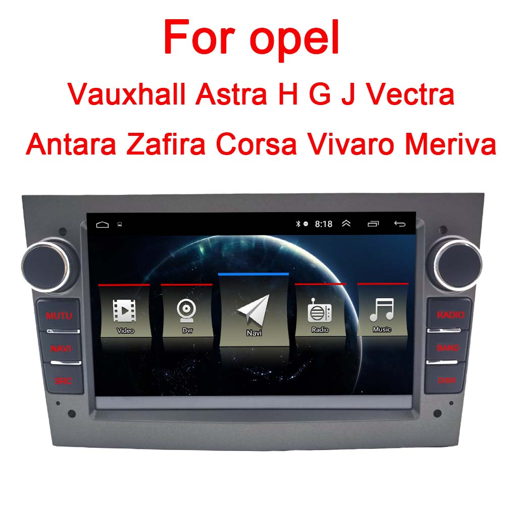 Android 8.1 2 DIN CAR DVD PLAYER GPS for opel Vauxhall Astra H G J Vectra Antara Zafira Corsa Vivaro Meriva|Car Multimedia Player|   - AliExpress