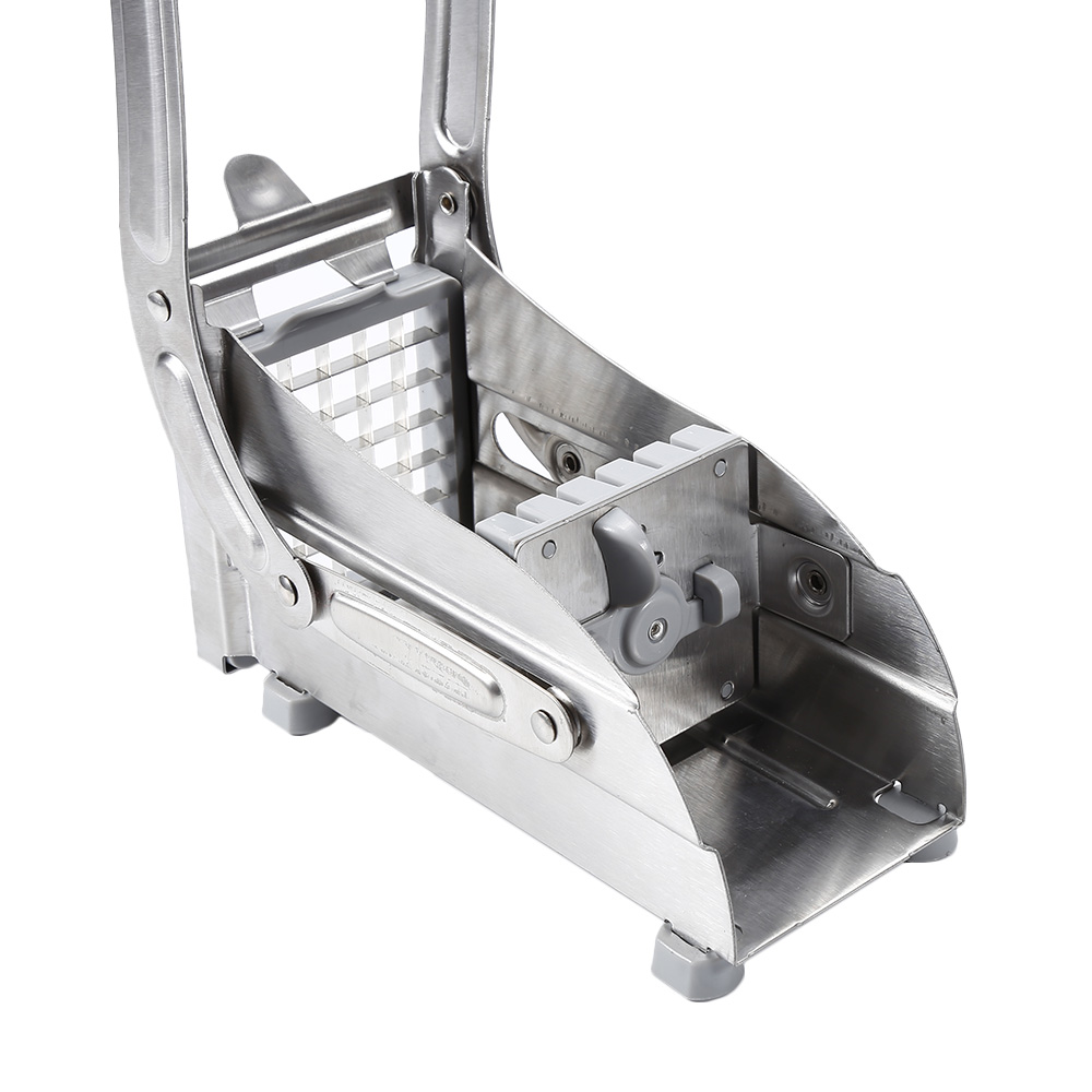 2 Blades Stainless Steel Home French Fries Potato Chips Strip Slicer Cutter Chopper Chips Machine Making Tool Potato Cut Fries 4