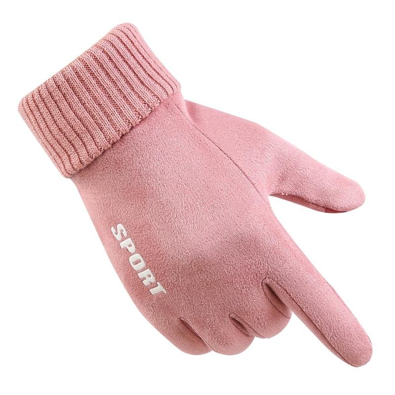 New Fashion Women Non-slip Gloves Autumn Winter Cute Warm Full Finger Mittens Women Outdoor Sport Female Glove Screen Luvas G020