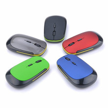 лучшая цена 1PCS Wireless Mouse Fashion U-Shaped 2.4GHz Wireless Mouse 1600DPI Optical Mouse For Computer Laptop Gift Random Color