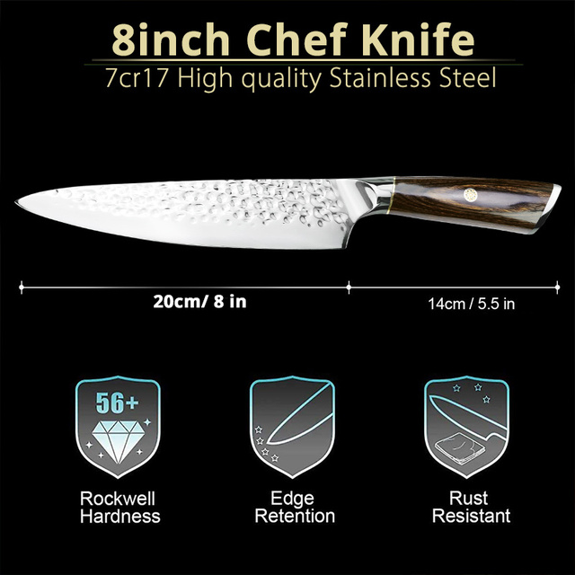 7 Inch Cleaver And 8 Inch Chef Knife Stainless Steel 5