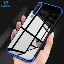 Hacrin Case For Samsung Galaxy A50 Case Soft TPU Transparent Clear Laser Plating Bumper Back Cover