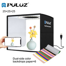 PULUZ 25cm/30cm Mini Photo Studio Lightbox Photography Light Box Lighting Studio Shooting Tent Box Kits&6 Background 12 Colors