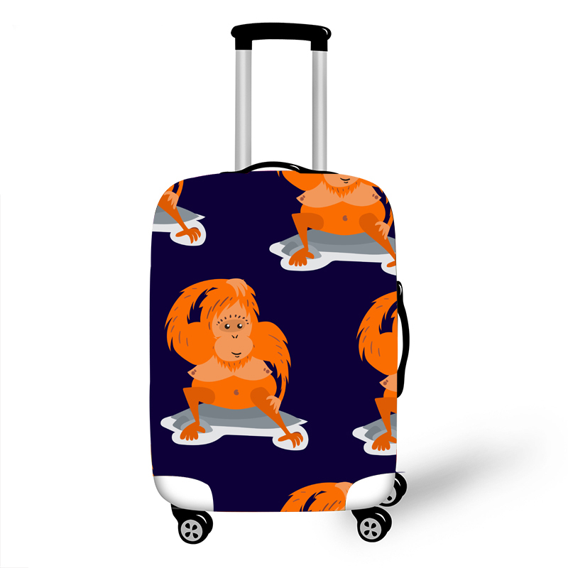 Elastic Luggage Protective Cover Case For Suitcase Protective Cover Trolley Cases Covers 3D Travel Accessories Monkey Pattern 10