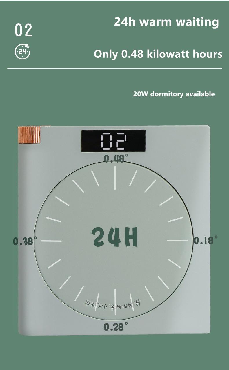 gear aquecimento lembrete inteligente isolamento porta-copos de aquecimento usb