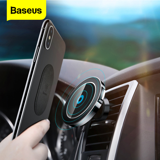 Baseus Car Magnetic Qi Wireless Charger For iPhone X 8 Samsung Note 8 S8 S7 Fast Wireless Charging Car Mount Phone Holder Stand