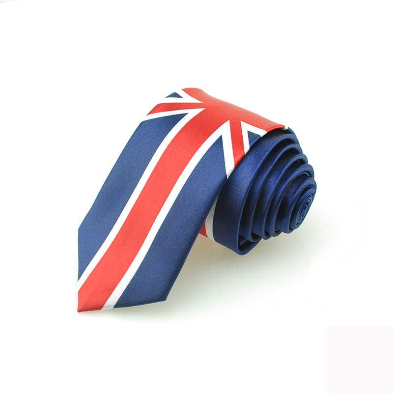 Nam Quan Hệ Cà Vạt Đầm Món Quà Cưới Cravat Lẻ Thời Trang Lá Cờ Quốc Gia Hoàng Gia Và Hải Quân Phối Nơ Cổ Điển Anh Đảng Cờ Skinny hàng Đầu