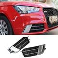 A1 черная или Серебристая передняя противотуманная фара маска Гриль Крышка для Audi A1 2011-2015 не подходит для линии стайлинга автомобиля