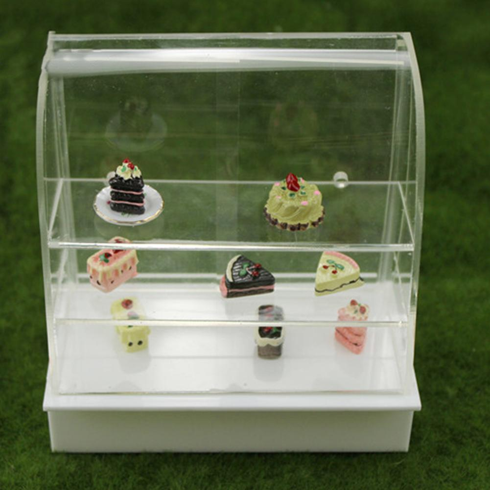 Doll House Miniature Shop Display Bakery Cake Cabinet Shelving Model Craft Decor Accessories Children's Toys